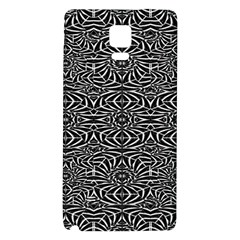 Black and White Tribal Pattern Galaxy Note 4 Back Case