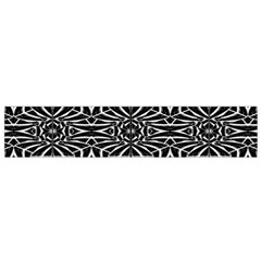 Black and White Tribal Pattern Flano Scarf (Small)