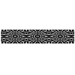 Black and White Tribal Pattern Flano Scarf (Large)