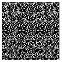 Black and White Tribal Pattern Large Satin Scarf (Square)
