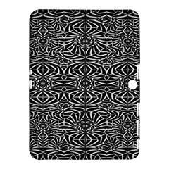 Black and White Tribal Pattern Samsung Galaxy Tab 4 (10.1 ) Hardshell Case