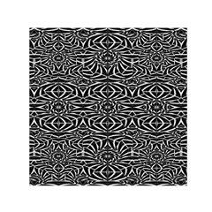 Black and White Tribal Pattern Small Satin Scarf (Square)