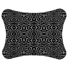 Black and White Tribal Pattern Jigsaw Puzzle Photo Stand (Bow)