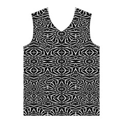 Black and White Tribal Pattern Men s Basketball Tank Top