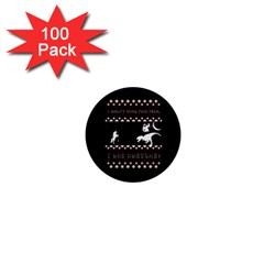 I Wasn t Good This Year, I Was Awesome! Ugly Holiday Christmas Black Background 1  Mini Buttons (100 pack)