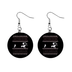 I Wasn t Good This Year, I Was Awesome! Ugly Holiday Christmas Black Background Mini Button Earrings