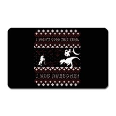 I Wasn t Good This Year, I Was Awesome! Ugly Holiday Christmas Black Background Magnet (Rectangular)