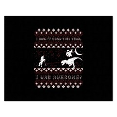 I Wasn t Good This Year, I Was Awesome! Ugly Holiday Christmas Black Background Rectangular Jigsaw Puzzl
