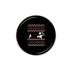 I Wasn t Good This Year, I Was Awesome! Ugly Holiday Christmas Black Background Hat Clip Ball Marker (4 pack)