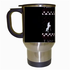 I Wasn t Good This Year, I Was Awesome! Ugly Holiday Christmas Black Background Travel Mugs (White)