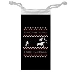 I Wasn t Good This Year, I Was Awesome! Ugly Holiday Christmas Black Background Jewelry Bags