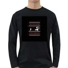 I Wasn t Good This Year, I Was Awesome! Ugly Holiday Christmas Black Background Long Sleeve Dark T-Shirts