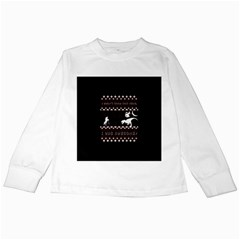 I Wasn t Good This Year, I Was Awesome! Ugly Holiday Christmas Black Background Kids Long Sleeve T-Shirts