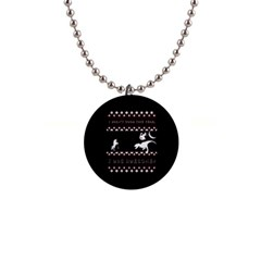 I Wasn t Good This Year, I Was Awesome! Ugly Holiday Christmas Black Background Button Necklaces