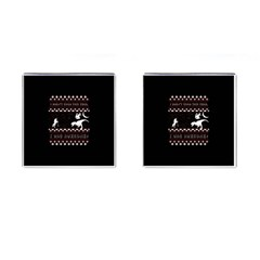 I Wasn t Good This Year, I Was Awesome! Ugly Holiday Christmas Black Background Cufflinks (Square)