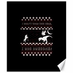 I Wasn t Good This Year, I Was Awesome! Ugly Holiday Christmas Black Background Canvas 8  x 10
