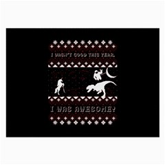 I Wasn t Good This Year, I Was Awesome! Ugly Holiday Christmas Black Background Large Glasses Cloth (2-Side)