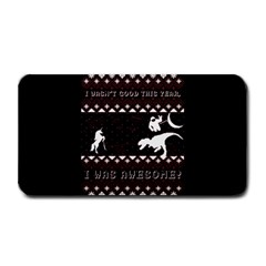 I Wasn t Good This Year, I Was Awesome! Ugly Holiday Christmas Black Background Medium Bar Mats