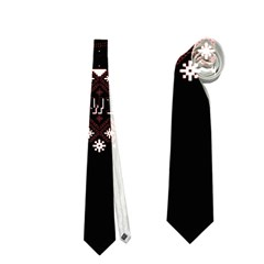 I Wasn t Good This Year, I Was Awesome! Ugly Holiday Christmas Black Background Neckties (one Side)