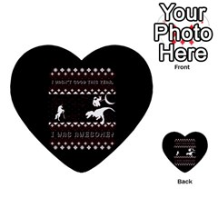 I Wasn t Good This Year, I Was Awesome! Ugly Holiday Christmas Black Background Multi-purpose Cards (Heart)