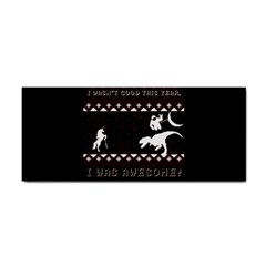 I Wasn t Good This Year, I Was Awesome! Ugly Holiday Christmas Black Background Hand Towel