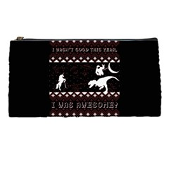 I Wasn t Good This Year, I Was Awesome! Ugly Holiday Christmas Black Background Pencil Cases