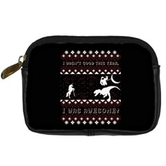 I Wasn t Good This Year, I Was Awesome! Ugly Holiday Christmas Black Background Digital Camera Cases