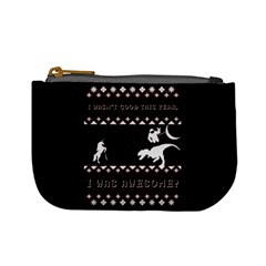I Wasn t Good This Year, I Was Awesome! Ugly Holiday Christmas Black Background Mini Coin Purses