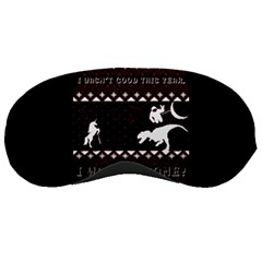 I Wasn t Good This Year, I Was Awesome! Ugly Holiday Christmas Black Background Sleeping Masks