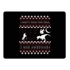 I Wasn t Good This Year, I Was Awesome! Ugly Holiday Christmas Black Background Fleece Blanket (Small)