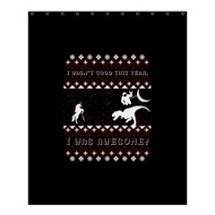 I Wasn t Good This Year, I Was Awesome! Ugly Holiday Christmas Black Background Shower Curtain 60  x 72  (Medium)