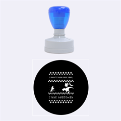I Wasn t Good This Year, I Was Awesome! Ugly Holiday Christmas Black Background Rubber Round Stamps (medium)