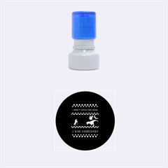 I Wasn t Good This Year, I Was Awesome! Ugly Holiday Christmas Black Background Rubber Round Stamps (Small)