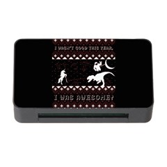 I Wasn t Good This Year, I Was Awesome! Ugly Holiday Christmas Black Background Memory Card Reader with CF