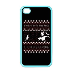 I Wasn t Good This Year, I Was Awesome! Ugly Holiday Christmas Black Background Apple iPhone 4 Case (Color)