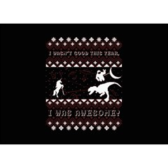 I Wasn t Good This Year, I Was Awesome! Ugly Holiday Christmas Black Background Birthday Cake 3D Greeting Card (7x5)