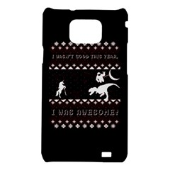 I Wasn t Good This Year, I Was Awesome! Ugly Holiday Christmas Black Background Samsung Galaxy S2 i9100 Hardshell Case