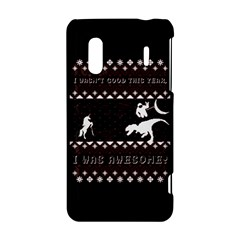 I Wasn t Good This Year, I Was Awesome! Ugly Holiday Christmas Black Background HTC Evo Design 4G/ Hero S Hardshell Case