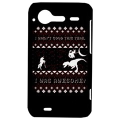 I Wasn t Good This Year, I Was Awesome! Ugly Holiday Christmas Black Background HTC Incredible S Hardshell Case
