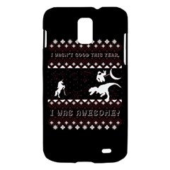 I Wasn t Good This Year, I Was Awesome! Ugly Holiday Christmas Black Background Samsung Galaxy S II Skyrocket Hardshell Case