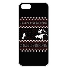 I Wasn t Good This Year, I Was Awesome! Ugly Holiday Christmas Black Background Apple iPhone 5 Seamless Case (White)