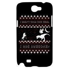 I Wasn t Good This Year, I Was Awesome! Ugly Holiday Christmas Black Background Samsung Galaxy Note 2 Hardshell Case