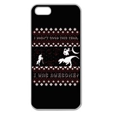 I Wasn t Good This Year, I Was Awesome! Ugly Holiday Christmas Black Background Apple Seamless iPhone 5 Case (Clear)
