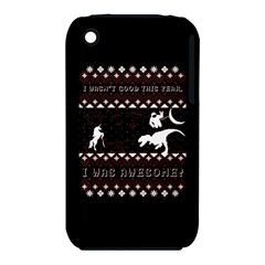 I Wasn t Good This Year, I Was Awesome! Ugly Holiday Christmas Black Background Apple iPhone 3G/3GS Hardshell Case (PC+Silicone)