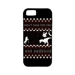 I Wasn t Good This Year, I Was Awesome! Ugly Holiday Christmas Black Background Apple Iphone 5 Classic Hardshell Case (pc+silicone)