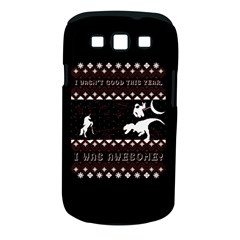 I Wasn t Good This Year, I Was Awesome! Ugly Holiday Christmas Black Background Samsung Galaxy S Iii Classic Hardshell Case (pc+silicone)
