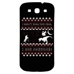 I Wasn t Good This Year, I Was Awesome! Ugly Holiday Christmas Black Background Samsung Galaxy S3 S Iii Classic Hardshell Back Case