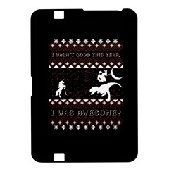 I Wasn t Good This Year, I Was Awesome! Ugly Holiday Christmas Black Background Kindle Fire HD 8.9