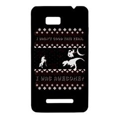 I Wasn t Good This Year, I Was Awesome! Ugly Holiday Christmas Black Background HTC One SU T528W Hardshell Case