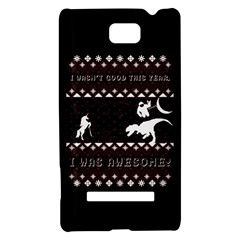 I Wasn t Good This Year, I Was Awesome! Ugly Holiday Christmas Black Background HTC 8S Hardshell Case